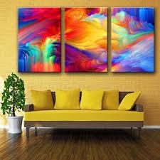 3 piece rainbow canvas wall art on photo canvas wall art with 3 piece rainbow canvas wall art myprideshop