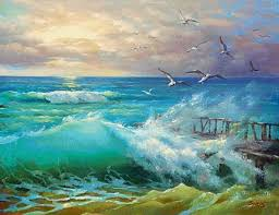 wave original oil on canvas painting by dmitry spiros 32 x 24 in x 60 cm