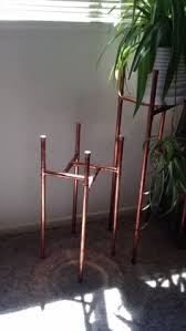 ... this with a clear sealer of some sort after its assembled. Plus, copper  is pricey. I wonder what the cost of the materials is. Make a Copper Plant  Stand
