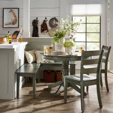 round dining room table and chairs. Weston Home Lexington 5 Piece Breakfast Nook Round Dining Set - Dark Sea Green Room Table And Chairs