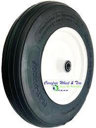 Two ply tire tubeless tire with highway treads. 4 00 8 14x3 Rib Tread Wheelbarrow Tire Wheel Assembly