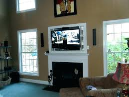 tv above fireplace hiding wires hang above fireplace mounting above gas fireplace hiding wires install tv