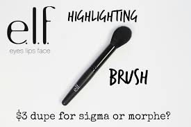 review new e l f highlighting brush 3 dupe for sigma or morphe