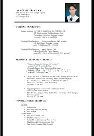 Sample Experience Resume Hr Mid Level Sample Resume For Experienced