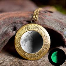 fashion glow in the dark luminous star series planet moon pendant necklace locket glass cabochon galaxy gift jewelry nz 2019 from atop88