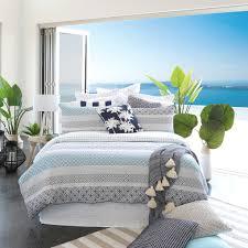 Tahiti Dark Blue Quilted Quilt Cover Set | Pillow Talk & Tahiti Dark Blue Quilted Quilt Cover Set Adamdwight.com