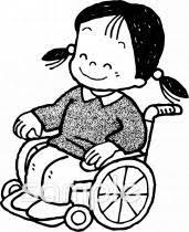 車椅子体験イラストなら小学校幼稚園向け保育園向け社会福祉の