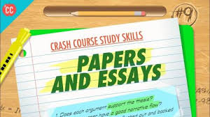 papers essays crash course study skills
