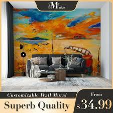 wall mural sunset beach photo wallpaper