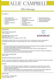 Medical Office Manager Resume Example Sample Resume For Office