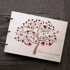 Owl Wedding Guest Book Rustic Guest Book Heart Tree Wedding Photo