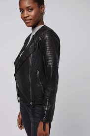 Quilted Faux-Leather Biker - Topshop USA &  Adamdwight.com