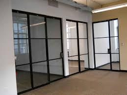 aluminum office partitions. Glass Sliding Partition In Black Aluminum Frame Office Partitions F