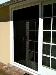 the white sliding sliding screen door the