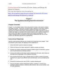 Basic Information Systems Analysis And Design Solutions Manual For Essentials Of System Analysis And
