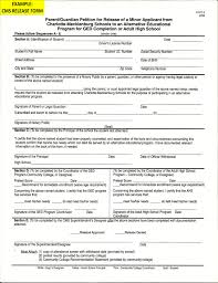 Ged Minors Cms Release Form Cpcc