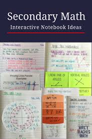 interactive notebook and foldable ideas for secondary math pre algebra algebra geometry