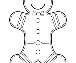 Gingerbread Man Coloring Pictures Pages Best Fortnite Col