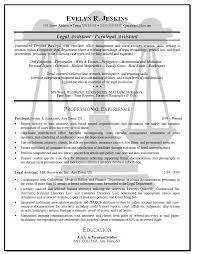 Professional Sample Legal Secretary Resume Free Resume Example