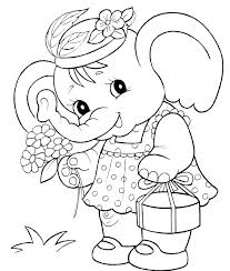 Baby Elephant Coloring Pages Baby Elephant Coloring Pages Cartoon