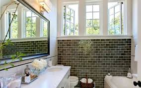 brown subway tile bathroom my web value white with light grout glass