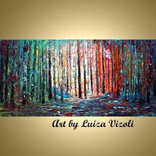original modern landscape acrylic paintings forest colorful landscape abstract paintings modern art paintings