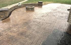 Concrete patio with square fire pit Retaining Wall Stone Stamped Concrete Fire Pit Remarkable Stamped Concrete Patio With Square Fire Pit Within Home Colors Designs Autumn8co Stamped Concrete Fire Pit New Stamped Concrete Patio With Fire Pit