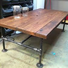 Pipe Furniture Custom Made Barn Wood Cast Iron Pipe Coffee Table By Js Reclaimed