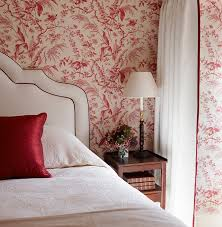 Red Wallpaper For Bedroom Red Master Bedroom Nice Master Bedroom With Red Curtains On