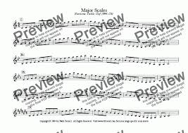 Major Minor Scales Baritone Treble Clef F 3 C6 For Solo Instrument Euphonium In Bb Bass Clef By Mark Feezell Ph D Sheet Music Pdf File To