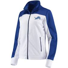 winter new style womens detroit lions g iii 4her by carl banks white blue playmaker full zip track jacket great