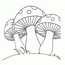 25 Bladeren Paddestoel Rood Met Witte Stippen Kleurplaat Mandala