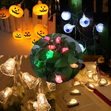 Outdoor Skull Lights Hanmiao Fairy Lights Outdoor Pumpkin Eye Halloween Skull