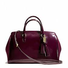 Coach Legacy Pinnacle Polished Merlot Patent Leather Lowell Satchel Bag  26369   eBay