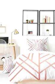 rose gold bed sheets art rose gold bed in a bag deny designs home accessories rose