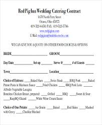 wedding catering contract agreement wedding catering contract sample