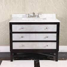 modern carrera white marble top 36 inch single sink brown bathroom vanity