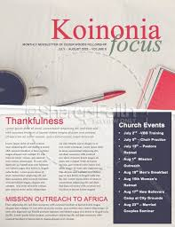 Study And Write Christian Newsletter Template Newsletter