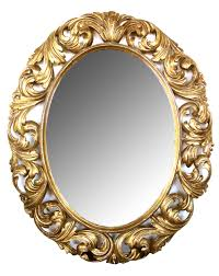 a well carved italian baroque style oval gilt wood mirror epoca antiques 20th century furnishings san francisco