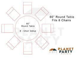 60 inch round table layout