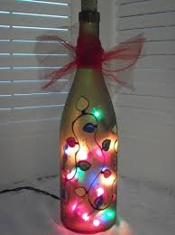 Making Wine Bottle Lights Hand Painted Recycled Wine Bottle Light Bottle Lights Christmas