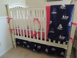 simple nautical crib bedding