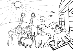 Small Picture Noah and his Ark Coloring Page Bible Coloring Pages Pinterest