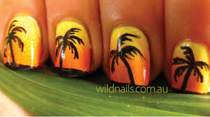 Island Nail Art Designs Tropical Island Summer Nails Tutorial