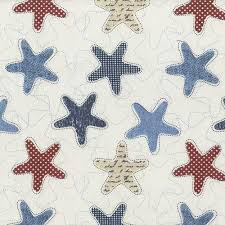 Starfish Fabric by the yard | Keepsake Quilting & Fabrics are shown in 8″ scale Adamdwight.com