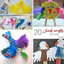 20 bird arts and craft for kids on sugar e and glitter