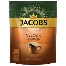 """<b>Кофе растворимый JACOBS """"Velour</b>"""", сублимированный, 140 г ..."""