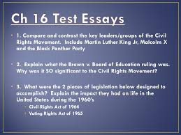 the civil rights movement ppt ch 16 test essays