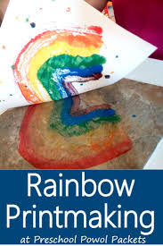 Rainbow Printmaking for Preschoolers