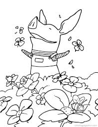 Olivia The Pig Free Printable Coloring Pages